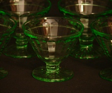 Anchor Hocking Glass Co. Depression sherbet dessert cups