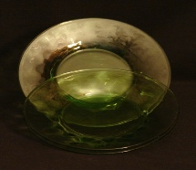 Depression Green Glass Plates