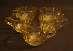 Federal Glass Co. Depression Glass Flat Cups