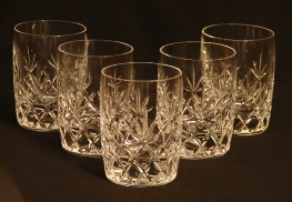 Lenox crystal double old fashioned cut foot glassware